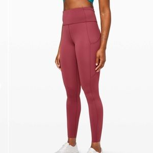 Lululemon Time to Sweat Chianti Leggings 4